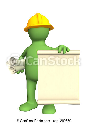 3d constructor con rollos de documentos - csp1280569