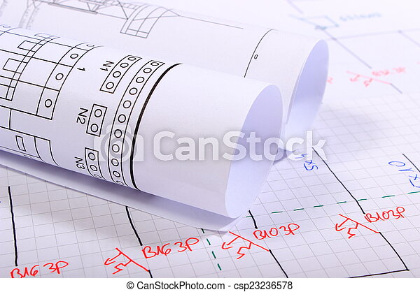 Rolls of electrical diagrams - csp23236578