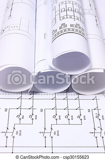 Rolls of electrical diagrams - csp30155623