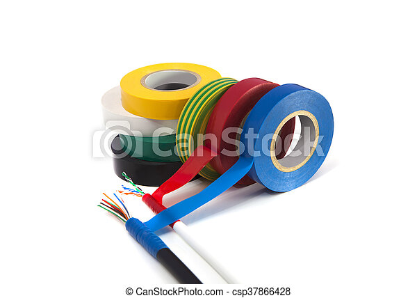 Rolls of insulation tape of different colors