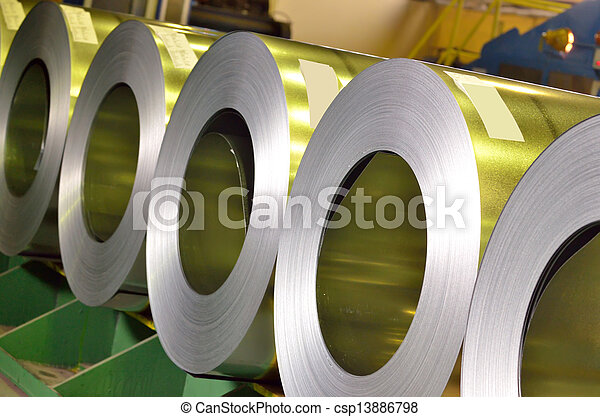 rolls of steel sheet - csp13886798