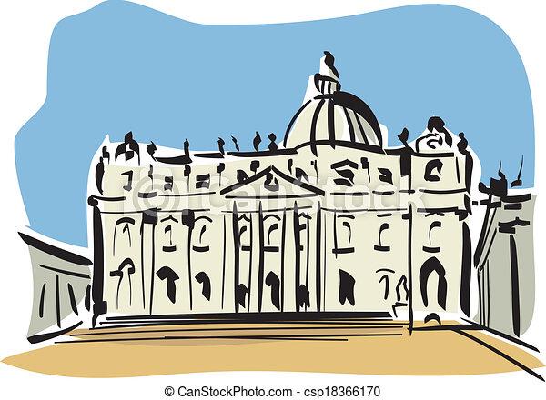 rom, peters, (st., basilica) - csp18366170