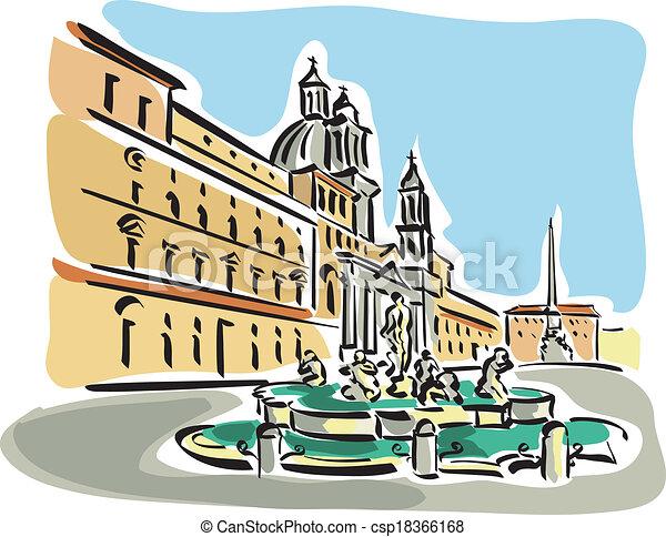rom, (piazza, navona) - csp18366168