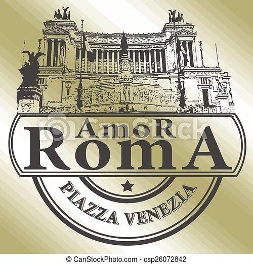 roma amor stamp - csp26072842