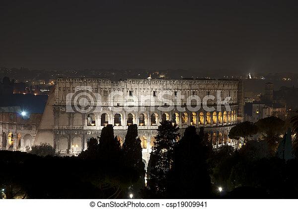 roma, notte - csp19009941