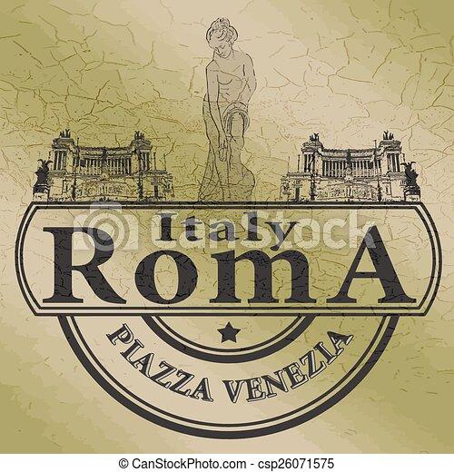 roma stamp - csp26071575