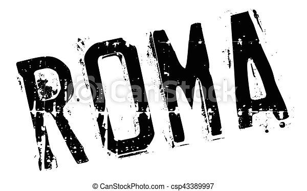Roma stamp rubber grunge - csp43389997