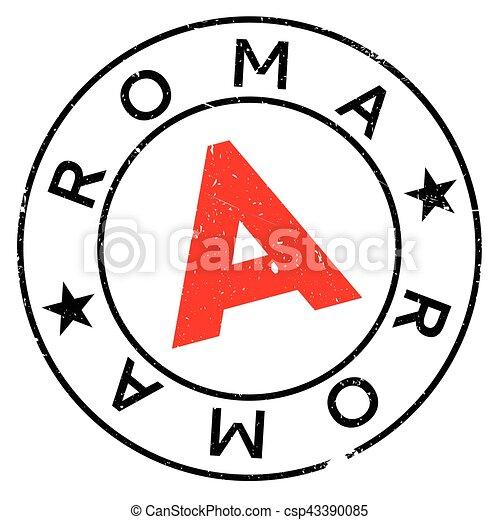 Roma stamp rubber grunge - csp43390085