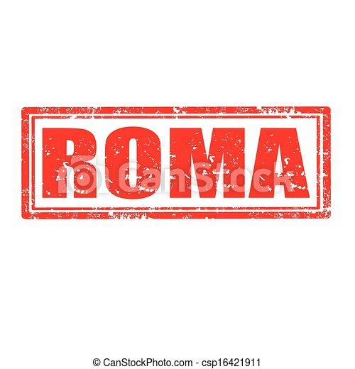 Roma-stamp - csp16421911