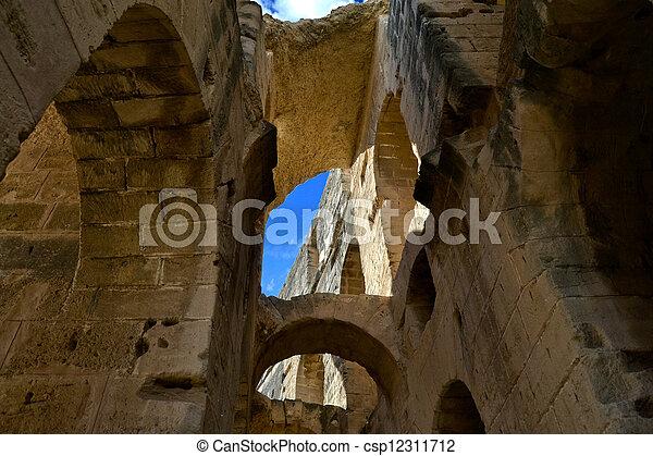 Roman amphitheater - El Jem - csp12311712