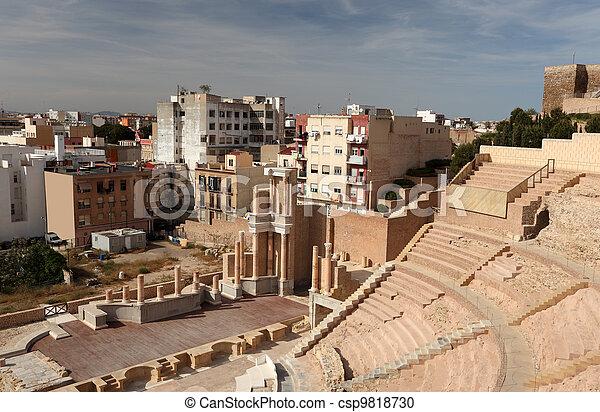 Roman Amphitheater in Cartagena, Spain - csp9818730