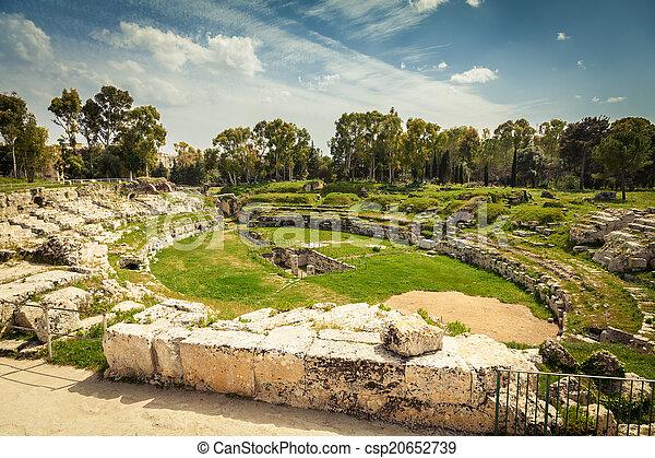 Roman amphitheatre of Syracuse - csp20652739