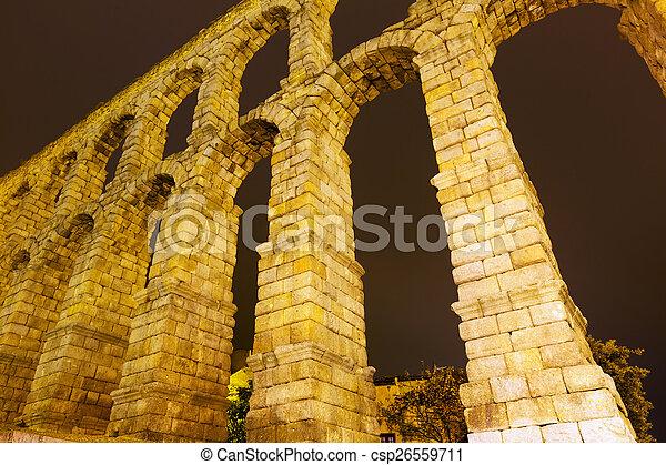 roman aqueduct in Segovia - csp26559711