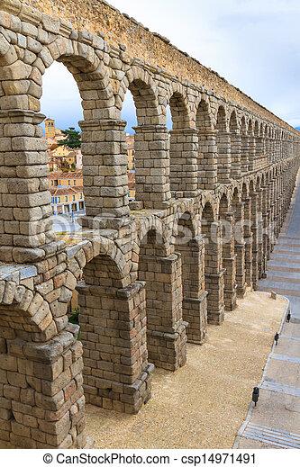 Roman aqueduct in Segovia (Spain) - csp14971491