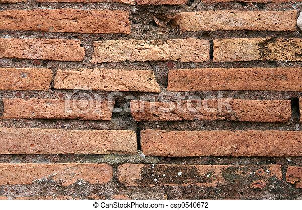 Roman brick wall #2 - csp0540672