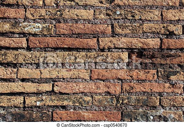 Roman brick wall - csp0540670