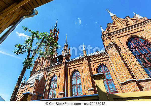 Roman-Catholic church in Samara, Russia - csp70438942