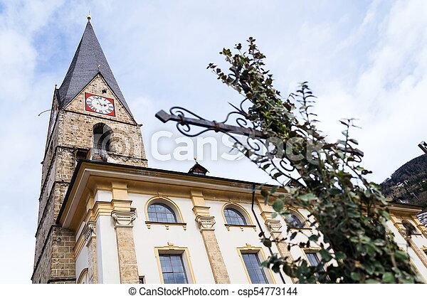 Roman Catholic Pfarrkirche St. Alban in Matrei in Osttirol, Austria - csp54773144