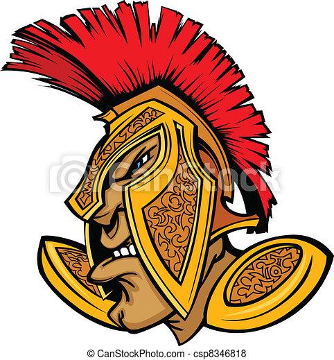 Roman Centurion Mascot Head with He - csp8346818
