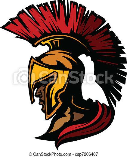 Roman Centurion Mascot Head with He - csp7206407