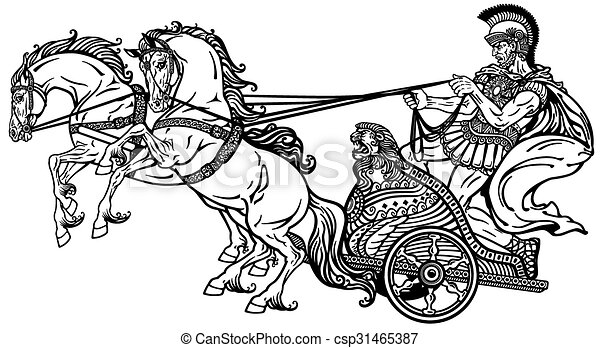 roman chariot black and white roman warrior in a chariot clip art horses head clip art horses and riders