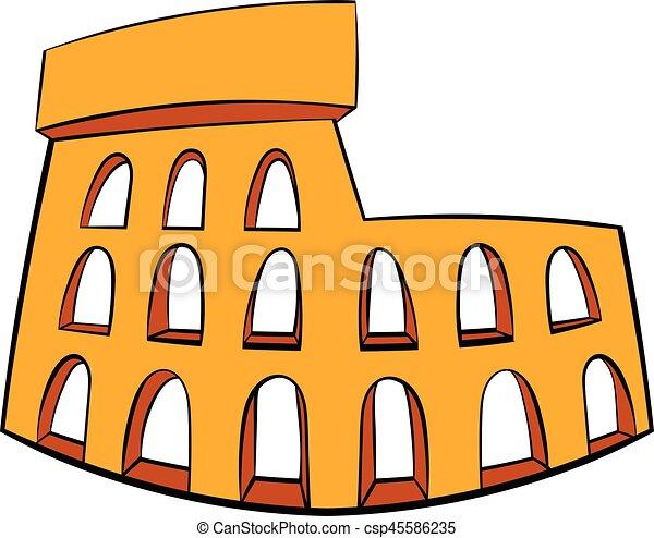 roman colosseum icon cartoon roman colosseum icon in cartoon style rh canstockphoto com