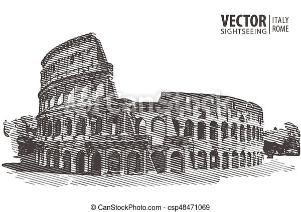 Rome Italy Europe Travel Architecture And Landmark Vector Illustration
