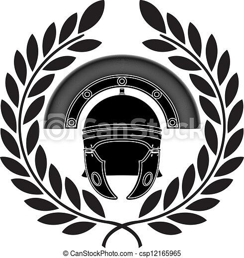 roman helmet. stencil - csp12165965