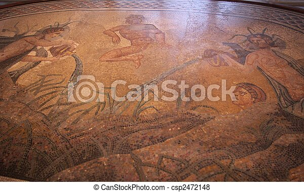 Roman mosaic - csp2472148