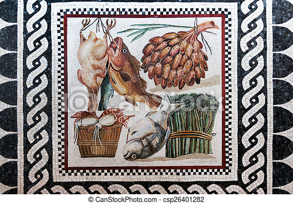 Roman mosaic - csp26401282