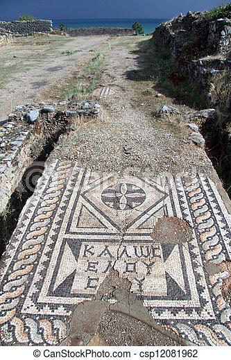 Roman mosaic - csp12081962
