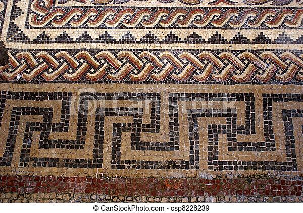 Roman mosaic - csp8228239