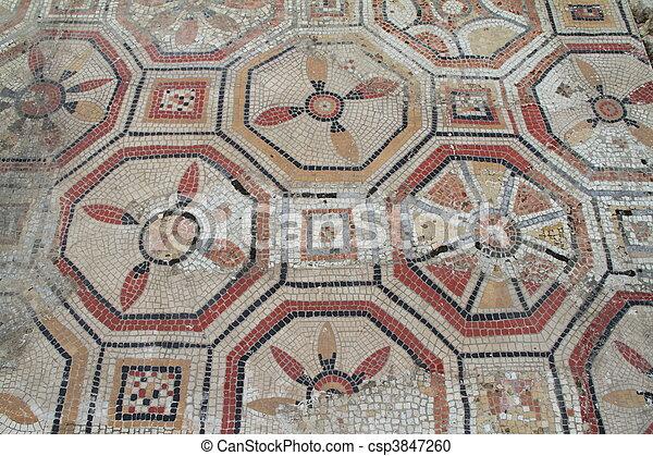 Roman mosaic - csp3847260