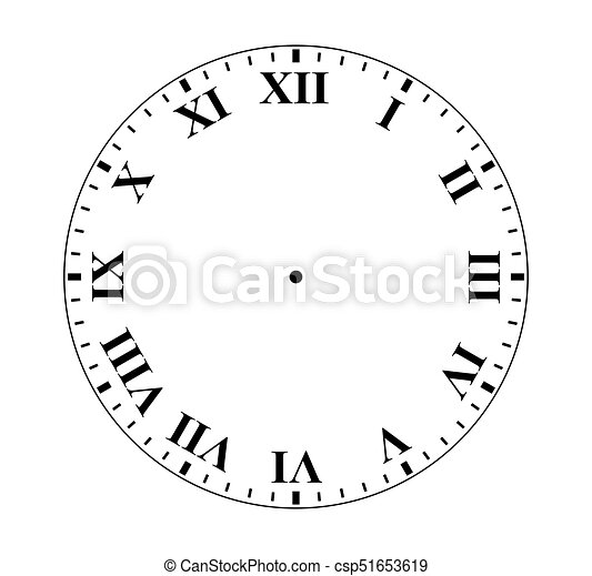 roman numeral clock simple clock face with roman numeral figures