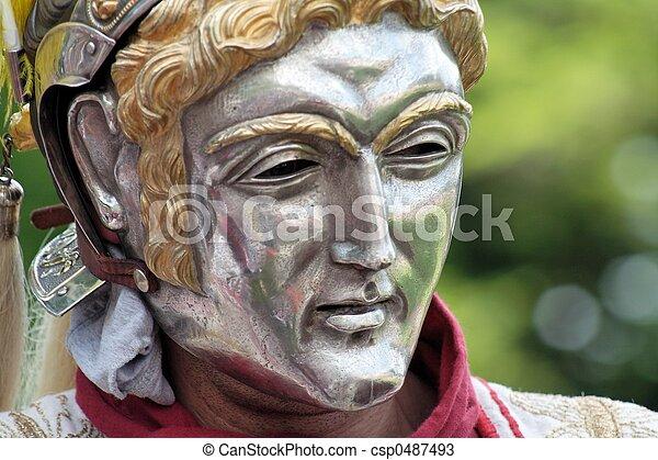 Roman parade mask - csp0487493