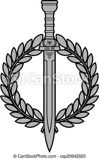 Roman Sword With Laurel Wreath