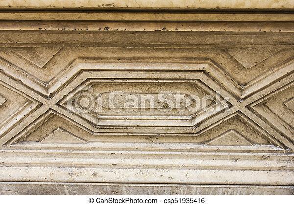 Roman wall art.