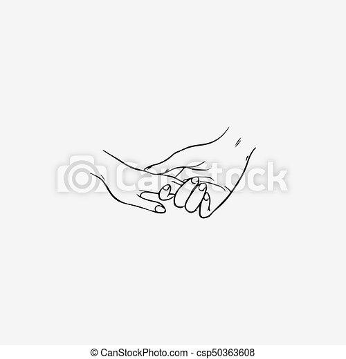 tenant les mains pendant la datation