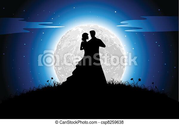 Romance in Night - csp8259638
