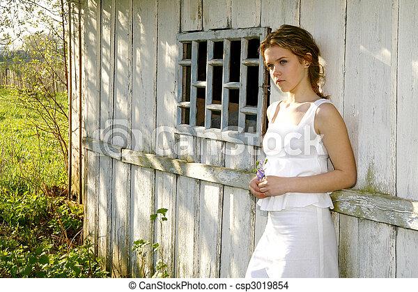 romance, pendant, printemps - csp3019854
