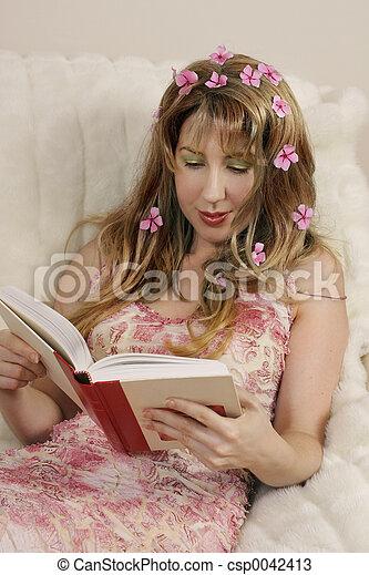 romance, printemps, roman - csp0042413