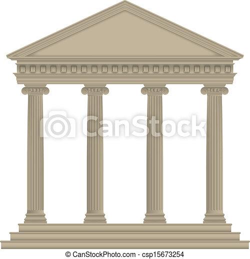 roman/greek, 寺院 - csp15673254