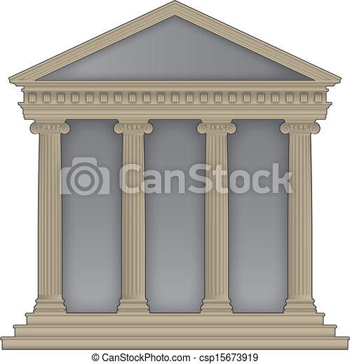 Templo romano y griego - csp15673919
