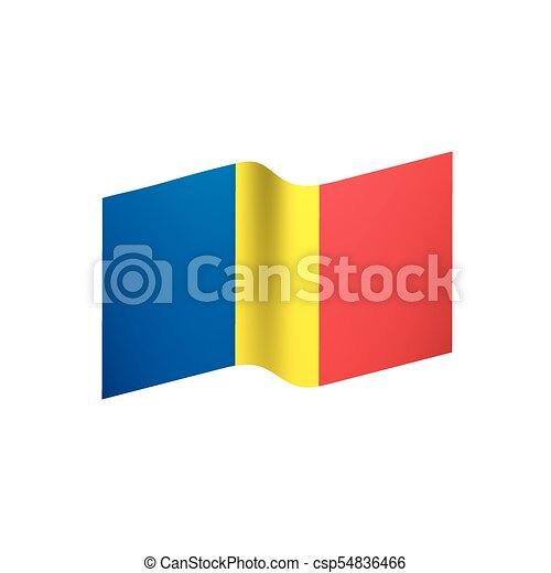 Romania flag, vector illustration - csp54836466