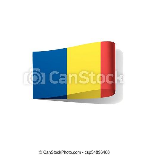 Romania flag, vector illustration - csp54836468