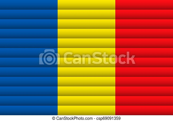 Romania Flag. Vector Illustration. - csp69091359