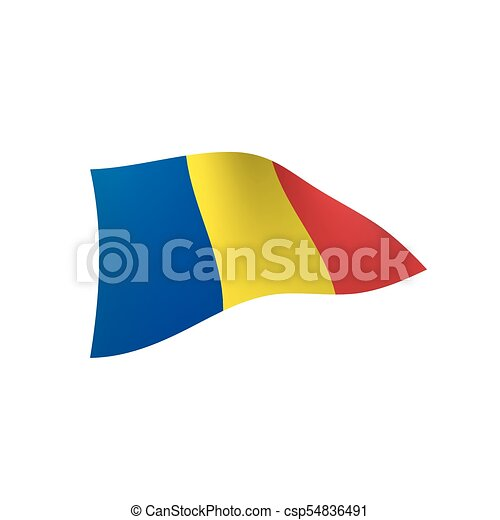 Romania flag, vector illustration - csp54836491