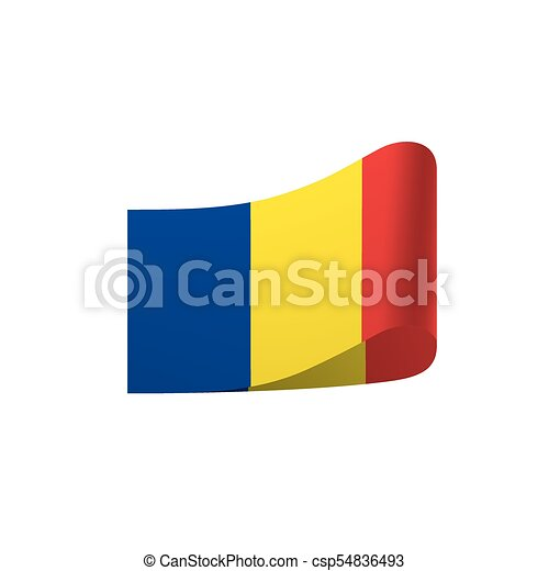 Romania flag, vector illustration - csp54836493