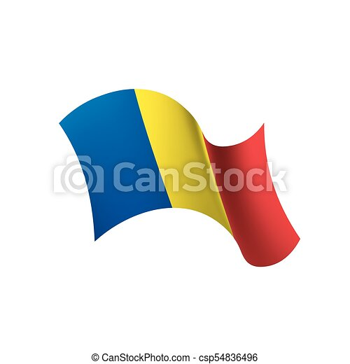 Romania flag, vector illustration - csp54836496