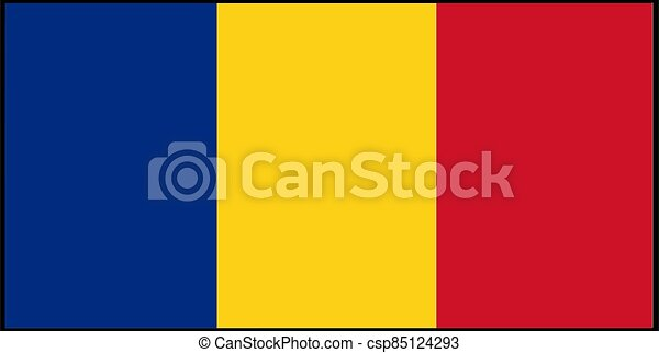 Romania flag vector illustration isolated on background - csp85124293